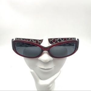 Coach S2009 Red Oval Sunglasses Frames